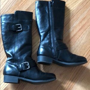 Girls size 1 black boots